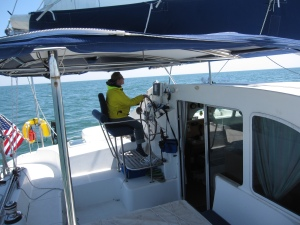 Angie at the Helm